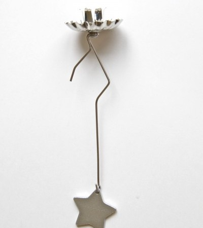 Pendulum Christmas Tree Candle Holder -- Star Weight -- Silver
