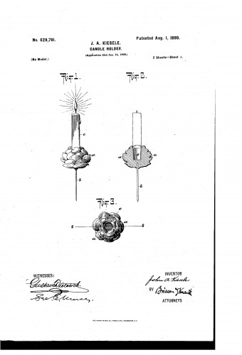 Christmas Tree Candle Holder with Pin - Patent