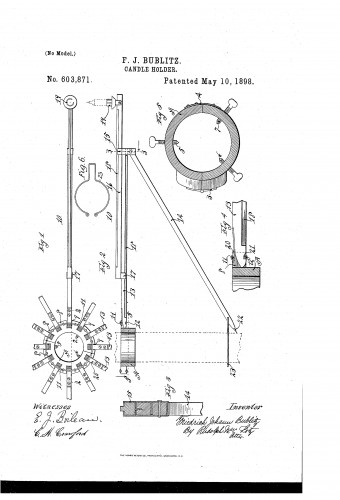 Framrwork for Mounting Christmas Tree Candles - Patent