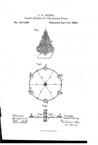 Circular framework for Christmas Tree Candle Holders - Patent