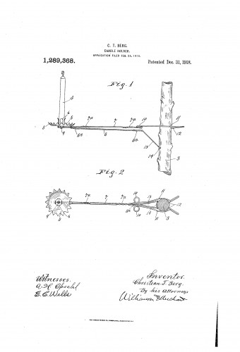Christmas Tree Candle Holder with Arm - Patent