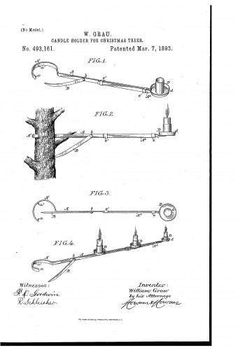 Christmas tree candle holder on arm - Patent