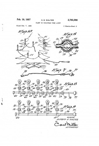 1957 Patent - Christmas Tree Candle Lights