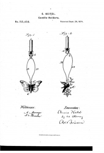 Butterfly Christmas Tree Candle Holder - Patent