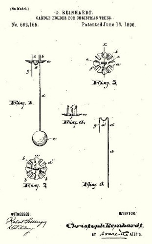 Counter Balance Christmas tree candle holders - Patent