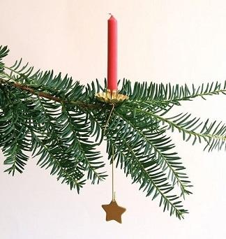 Hanging Pendulum Christmas Tree Candle Holders